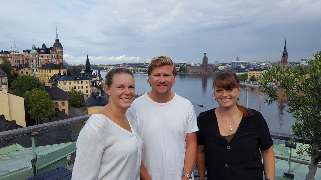 Från vänster: Anette Olovborn, Anton Ternström, Emelie Risberg Hellström