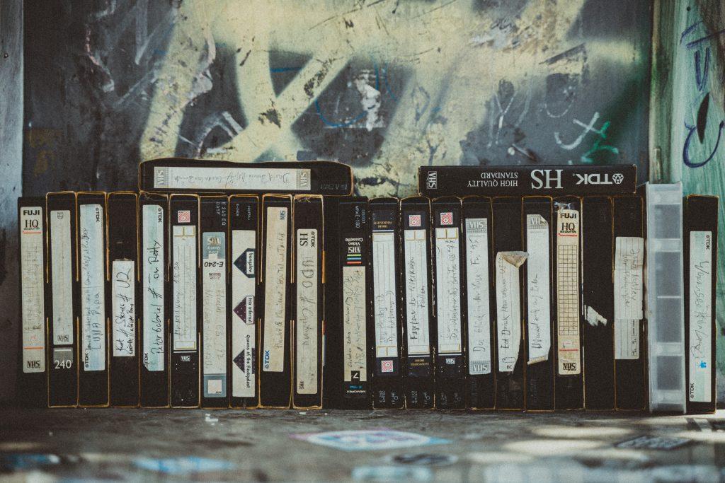 Foto på gama videoband.